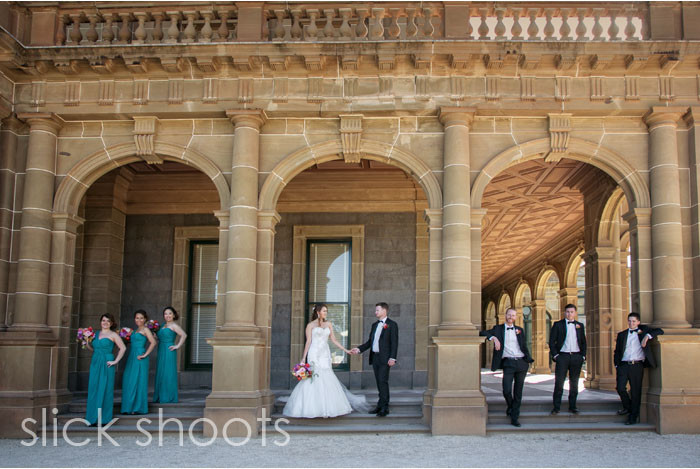 Ashley and Daniel wedding Werribee Mansion Rose Garden
