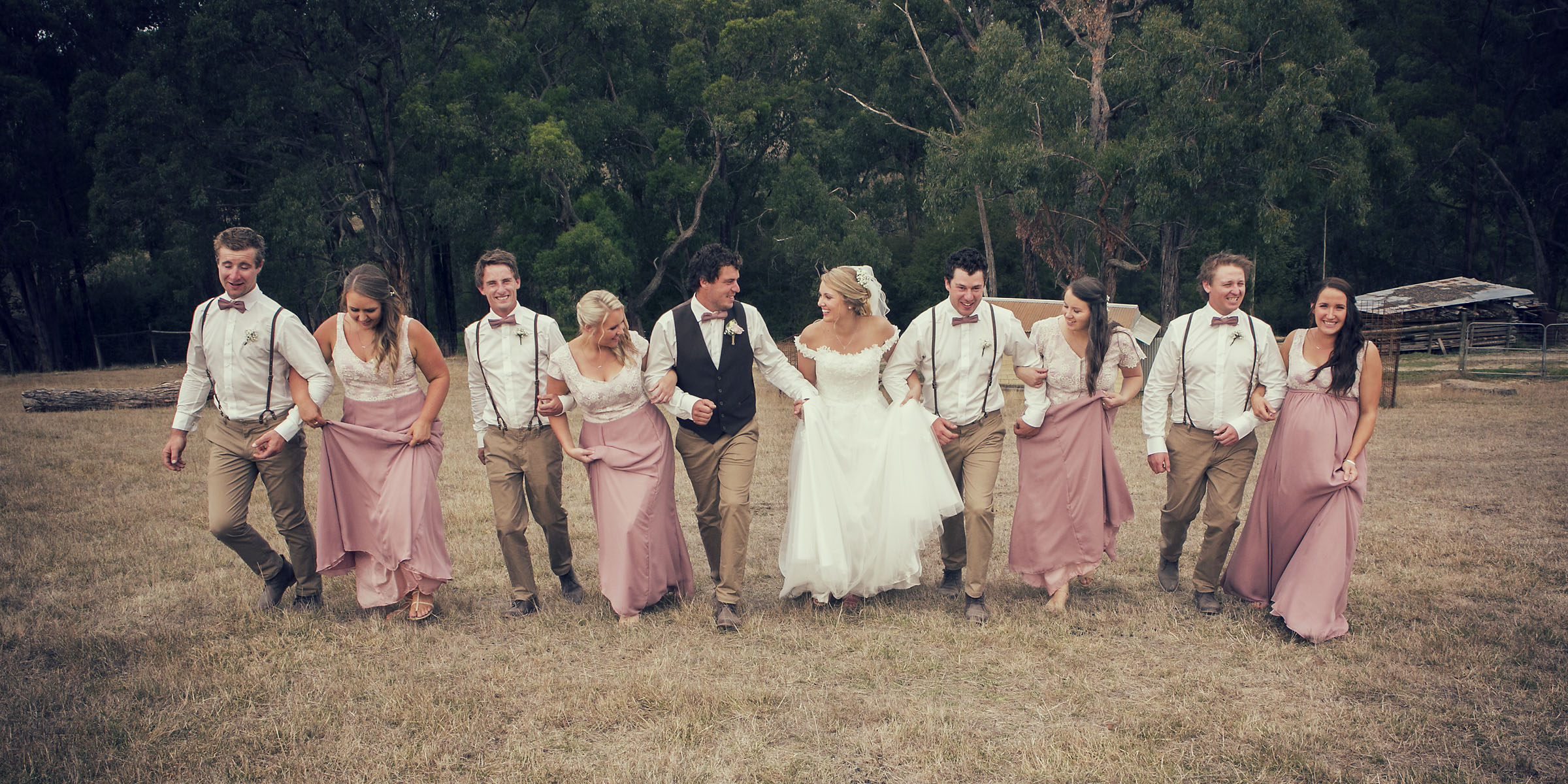Casey and Ryan's wedding at Gum Gully Farm in the Dandenongs