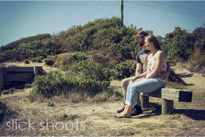 Emma and Gage pre-wedding portrait shoot in Mornington