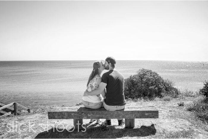 Emma and Gage pre-wedding portrait shoot in Mornington