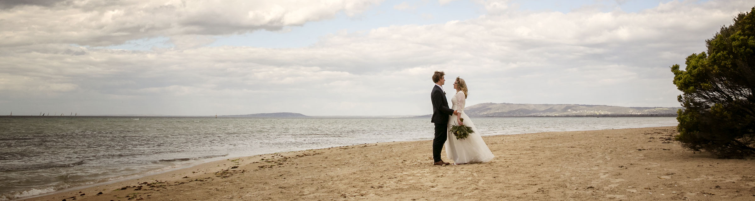 Joanne and Andrew's wedding on Rye Beach