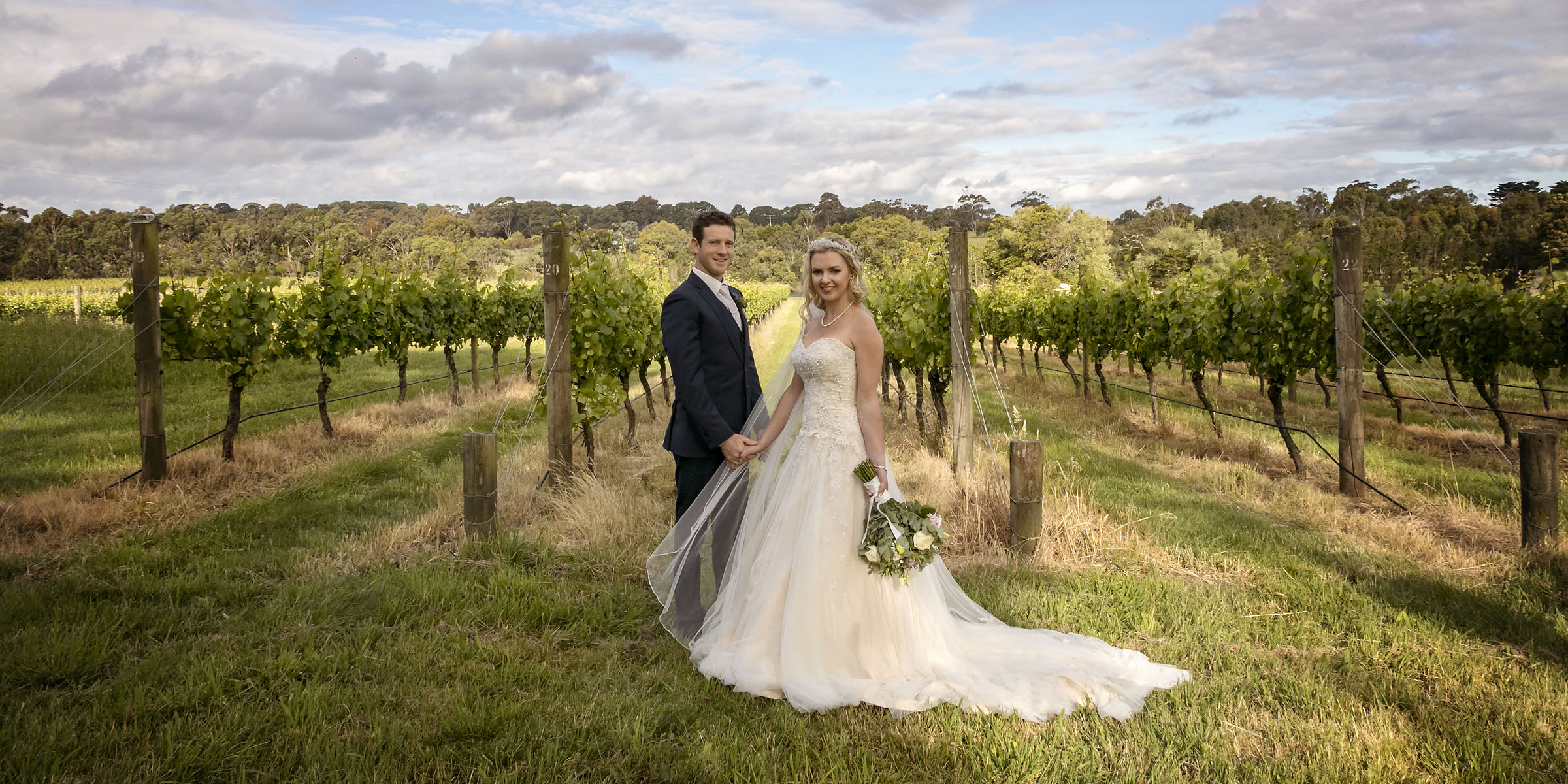 Narelle and Trent's wedding at Veraison Restaurant on the Mornington Peninsula