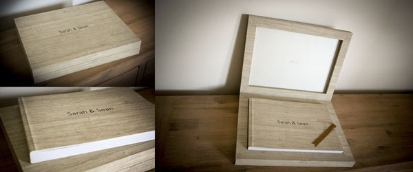 contemporary wedding book albums
