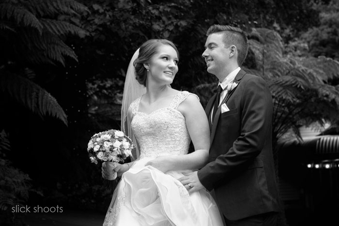 Hayley and Michael's wedding at Nathania Springs, Dandenongs