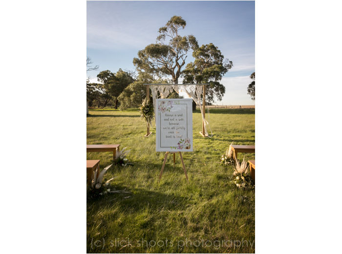 Hickinbotham of Dromana wedding venue styled shoot with Instinctive Graphics
