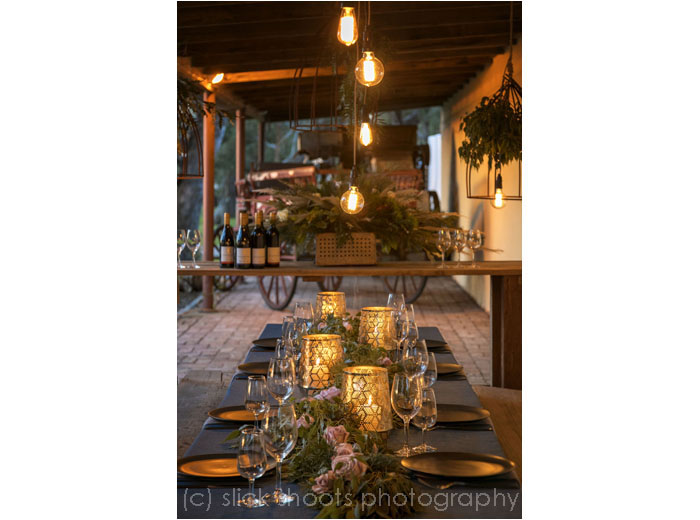 Hickinbotham of Dromana wedding venue styled shoot with Event and Flavour and Simmons Linen Hire