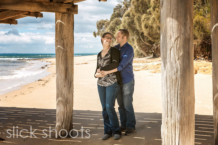 Rachel and David's pre-wedding shoot at Point Leo on the Morning
