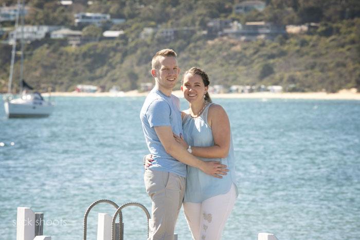 Alicia and Adam pre-wedding shoot Mornington