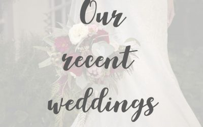 Our latest weddings!