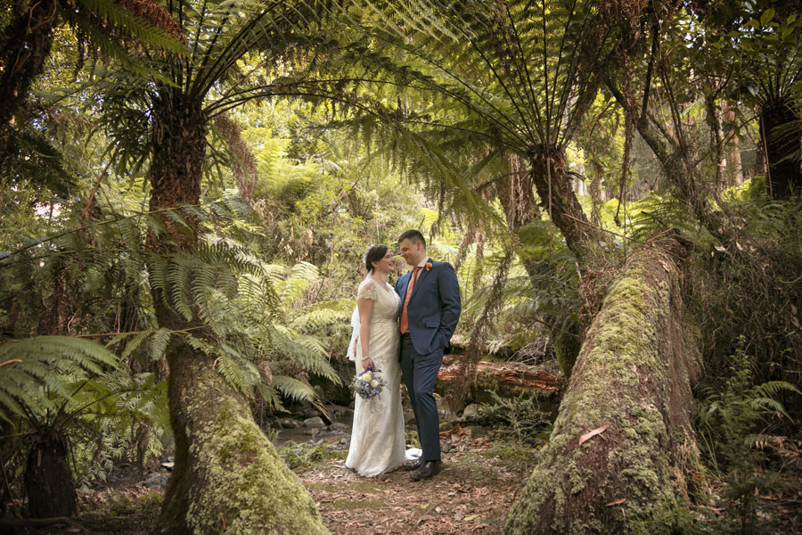 Katherine & Andrew's wedding at Lyrebird Falls