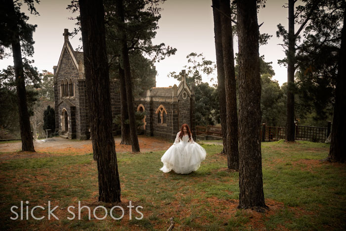 Ashleigh and Jared winter wedding at Montsalvat